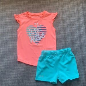 Under Armour 24 months girls active wear set